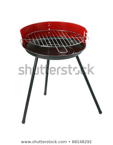 Kırmızı kapalı ızgara barbekü izometrik görmek Stok fotoğraf © studioworkstock