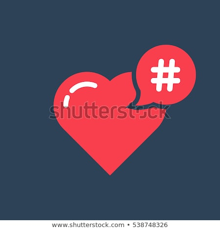 Hashtag icon like heart - smm promotion and share interesting me Stock photo © gomixer