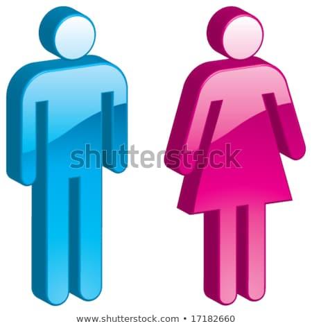 ジェンダー シンボル 男 女性 3D レンダリング ストックフォト © user_11870380