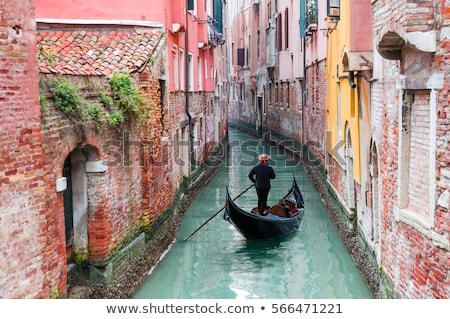 Venedik yakışıklı gondol sokak İtalya ev Stok fotoğraf © Givaga