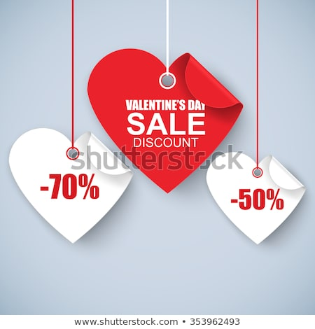 valentines day sale background with red heart vector special offer illustration for coupon banner stock photo © articular