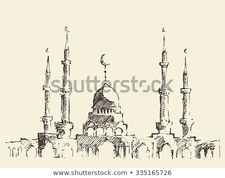Mosque Islamic religious building. Vector illustration for Musli Stock photo © popaukropa