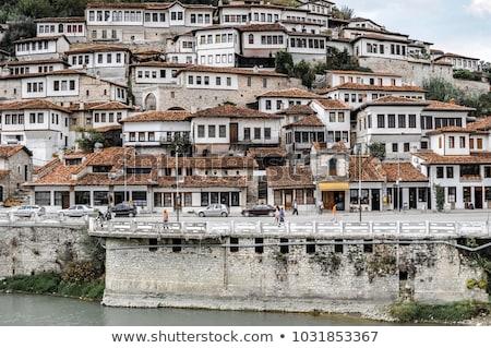 Rua cidade velha Albânia casa edifício arquitetura Foto stock © travelphotography