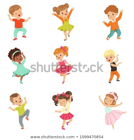 a set of children dancing stock photo © bluering