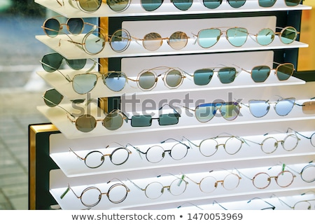 Stok fotoğraf: Glasses For Close Up View In Rows Many Eye Glasses