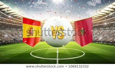 Voetbal wedstrijd Spanje vs Marokko voetbal Stockfoto © Zerbor
