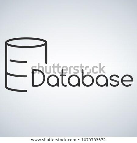 リニア · データベース · サーバー · 孤立した · ウェブ · 携帯 - ストックフォト © kyryloff