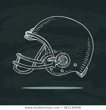 football field hand drawn outline doodle icon stock photo © rastudio