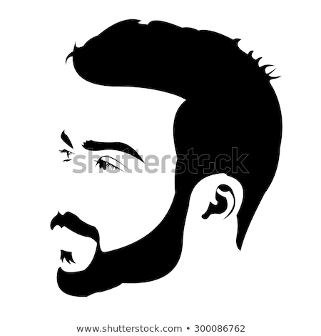 pop art men hipster face profile Stock photo © studiostoks
