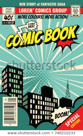 comic book cover page template design Stock photo © SArts