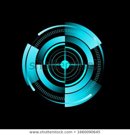 Kék radar képernyő terv földgömb térkép Stock fotó © olehsvetiukha