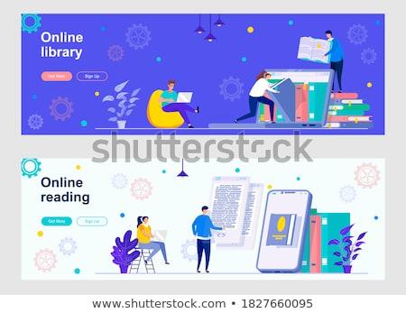 E-library header or footer banner. Stock photo © RAStudio