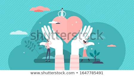 Charity and Palms and Heart Vector Illustration Stock photo © robuart