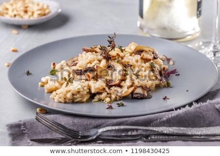 Risotto with porcini mushrooms Stock photo © Alex9500