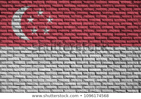 シンガポール フラグ 描いた デザイン 背景 芸術 ストックフォト © colematt