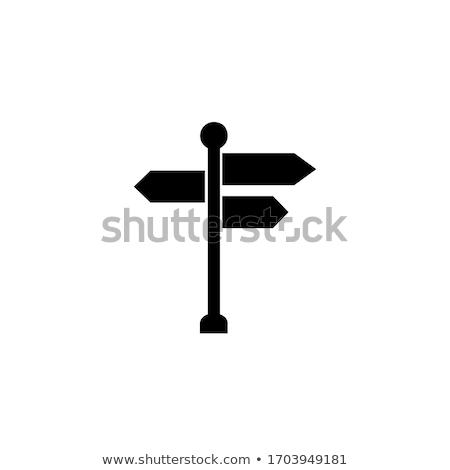 Navigációs útjelző tábla tárgy ikon terv hosszú Stock fotó © Anna_leni