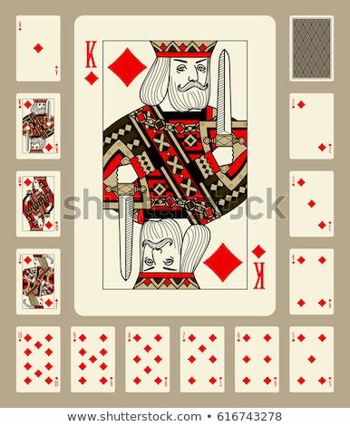 Oynama kart kral elmas sarı kırmızı Stok fotoğraf © Krisdog