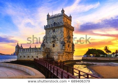 橋 · 日没 · ポルトガル · 表示 · リスボン · 水 - ストックフォト © joyr