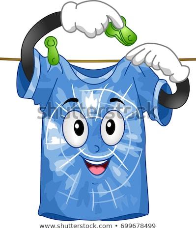 shirt mascot dye hang illustration stock photo © lenm