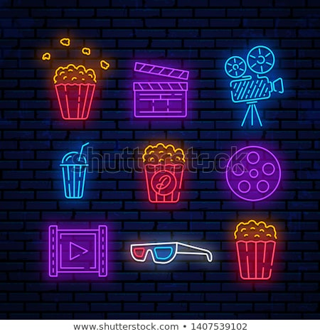 cinema neon icons stock photo © anna_leni