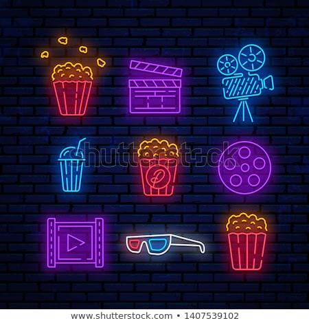 Cinema Neon Icons Stock photo © Anna_leni
