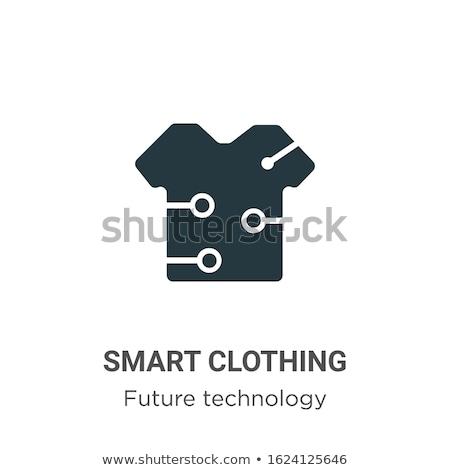 Digitális vektor okos ruházat divat szerkentyű Stock fotó © frimufilms
