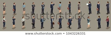 Office Worker Businessman Isolated Isometric Icon Stock photo © robuart