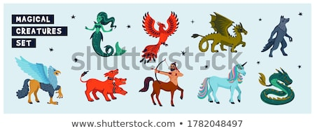 Unicorns Design of Mythological Creature Vector Stock photo © robuart