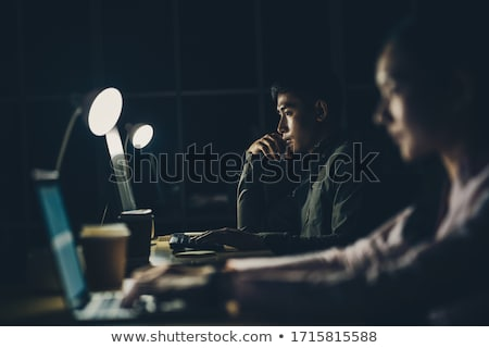 Business team computer werken laat kantoor business Stockfoto © dolgachov