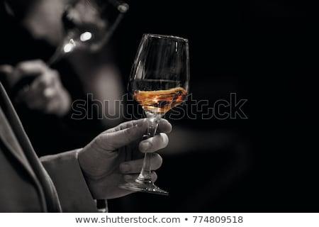 degustacja · wina · piękna · portret · piękna · młodych · brunetka - zdjęcia stock © dashapetrenko