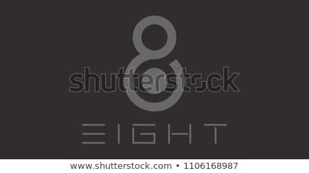 Acht aantal vector logo icon Stockfoto © blaskorizov