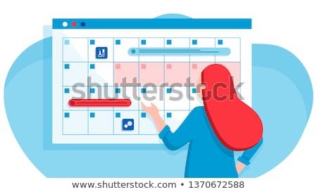 menopausa · mulher · quente · flash · sintoma · equitação - foto stock © rastudio