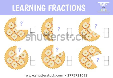 set of cake fractions stock photo © bluering