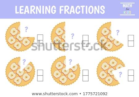 Set of cake fractions Stock photo © bluering