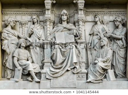 Detalle fuente posada Italia estatua mujer Foto stock © boggy