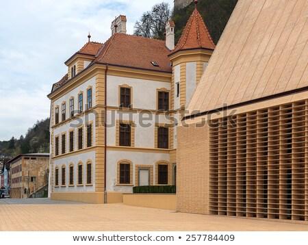Liechtenstein múzeum kilátás város utazás építészet Stock fotó © boggy