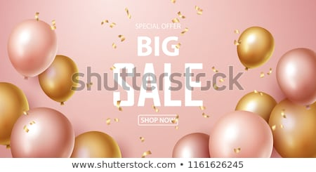 sale banner with balloons stock photo © barbaliss