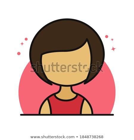 Női felhasználó avatar alkalmazott ikon aranyos Stock fotó © ussr