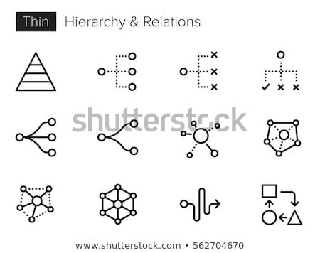 organisatie · grafiek · mensen · icon · hiërarchie - stockfoto © ussr