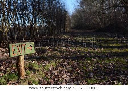 木製 署名を終了 点数 ダウン 長い パス ストックフォト © sarahdoow