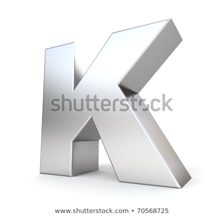 Chrome font with colorful reflections Letter K 3D Stock photo © djmilic