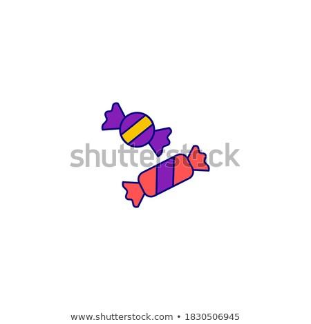 Halloween color isometric concept icons Stock photo © netkov1