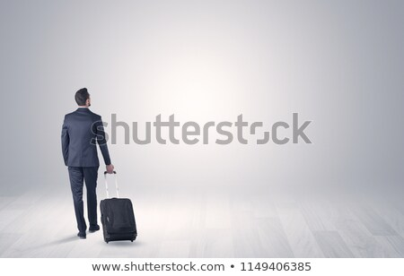 Business with luggage in a boundless space Stock photo © ra2studio