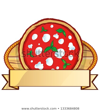 イタリア語 ピザ ロゴ 空っぽ ラベル バナー ストックフォト © doomko