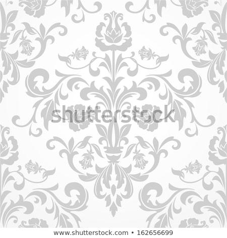 Damaszt végtelenített skicc minta végtelen minta elegáns Stock fotó © angelp