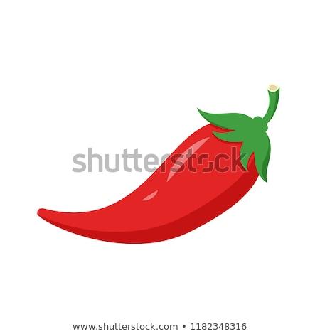 Cartoon rojo chile vector fuego planta Foto stock © nezezon