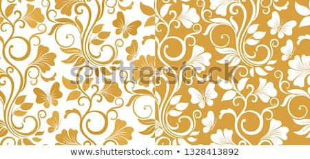 Lujo sin costura gráfico flores hojas dos Foto stock © brahmapootra