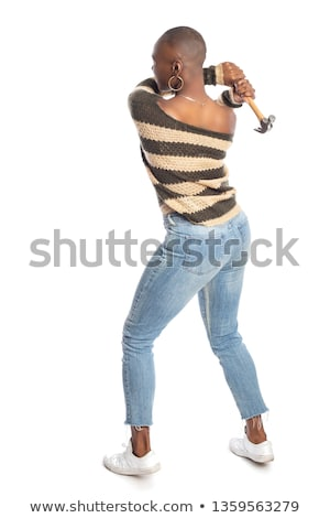 a woman with a hammer stock photo © studiostoks