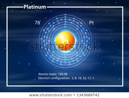 Platine atome diagramme illustration design technologie Photo stock © bluering