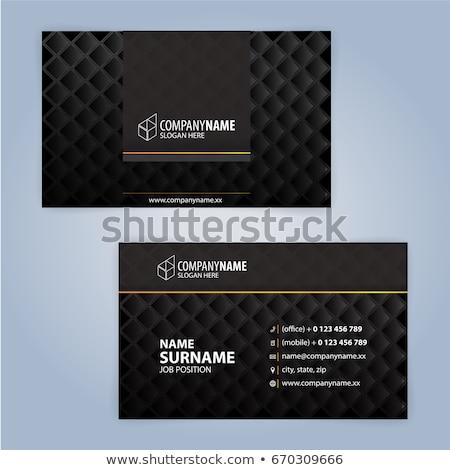 Prima oscuro dorado tarjeta de visita diseños establecer Foto stock © SArts